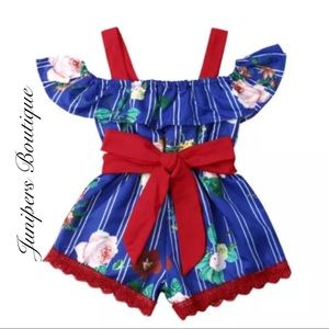 Other - Boutique Baby Girls Striped Romper